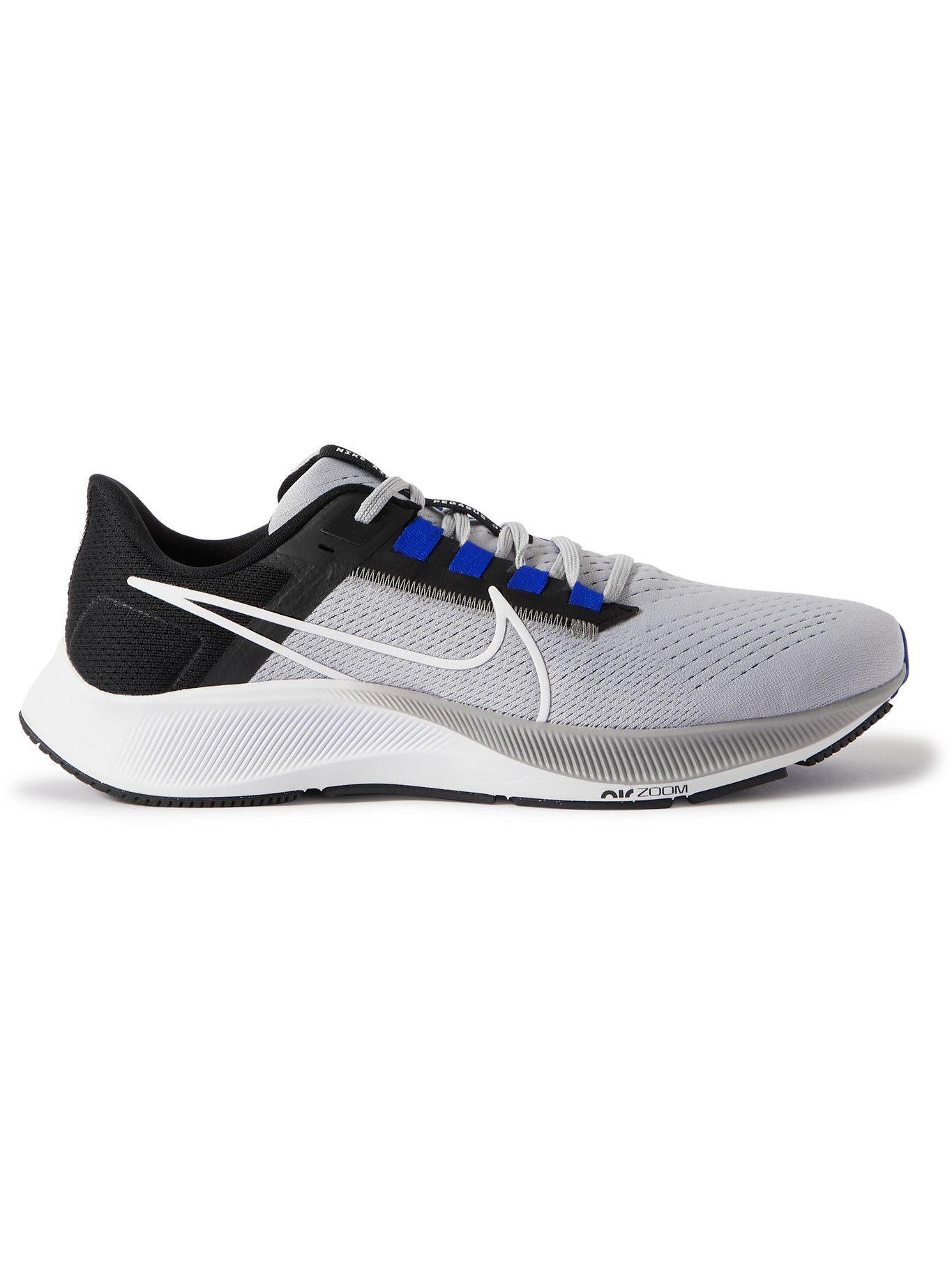Photo: Nike Running - Air Zoom Pegasus 38 Rubber-Trimmed Mesh Running Sneakers - Gray