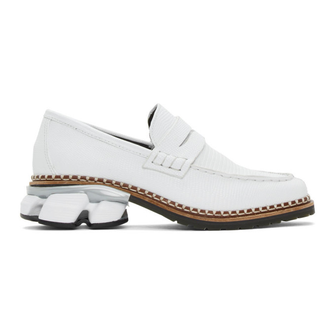 Photo: Miharayasuhiro White Snake Sneaker Sole Loafers