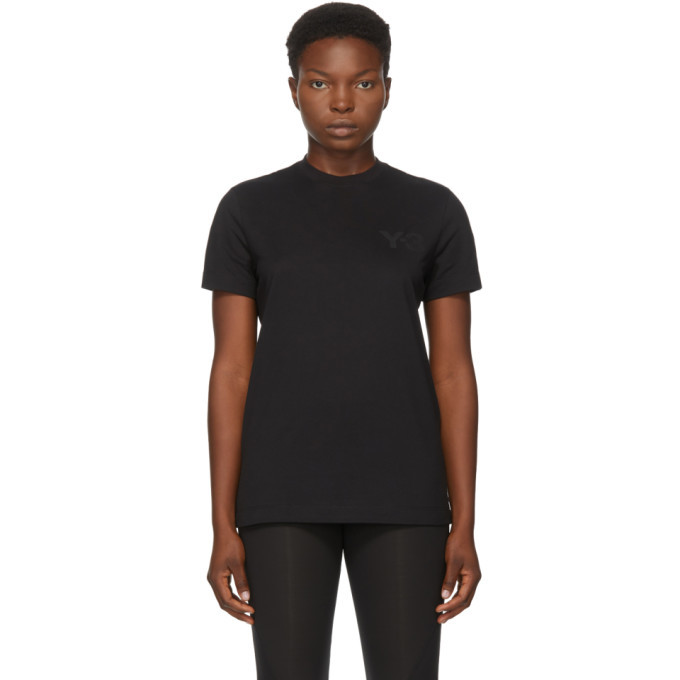 Photo: Y-3 Black Classic Logo T-Shirt