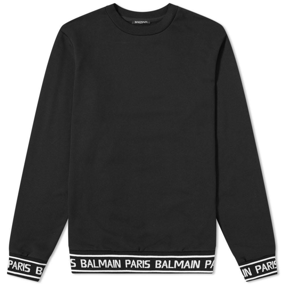 Photo: Balmain Logo Taped Crew Sweat