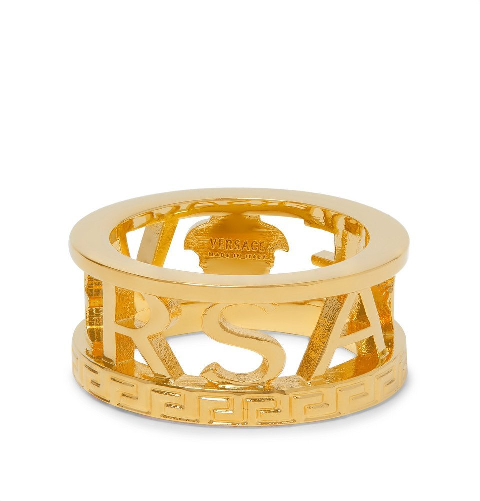 Photo: Versace - Logo Gold-Tone Ring - Gold