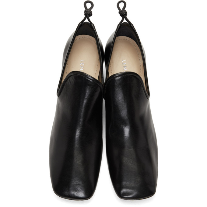 Lemaire Black Soft Loafer Heels