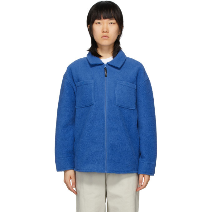 Photo: Stussy Blue Fleece Zip Jacket