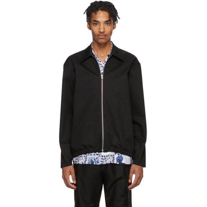 Photo: Marni Black Gabardine Workwear Jacket