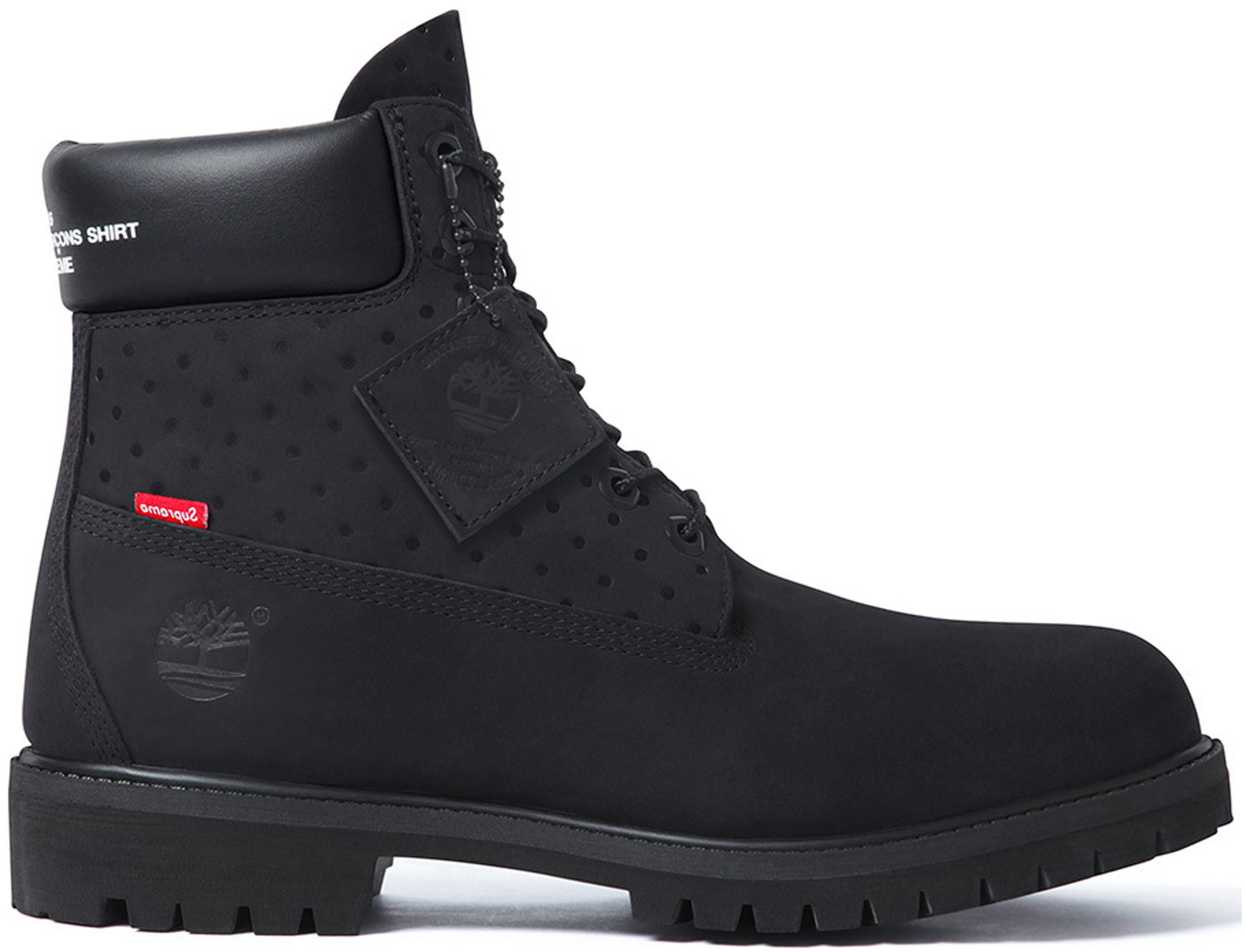 "Photo: Timberland 6"" Boot Supreme x Comme des Garcons Black"