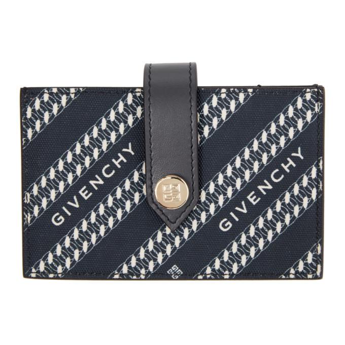 Photo: Givenchy Navy Diagonal Logo Wallet