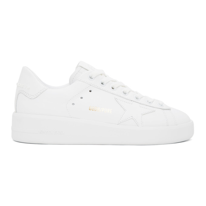 Photo: Golden Goose White Pure Star Sneakers
