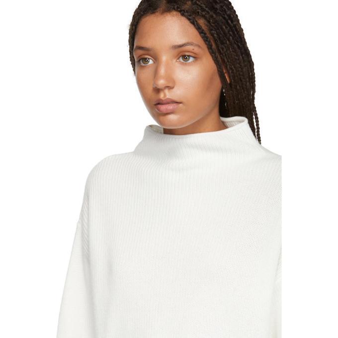 Won Hundred White Catharine Mock Neck Sweater