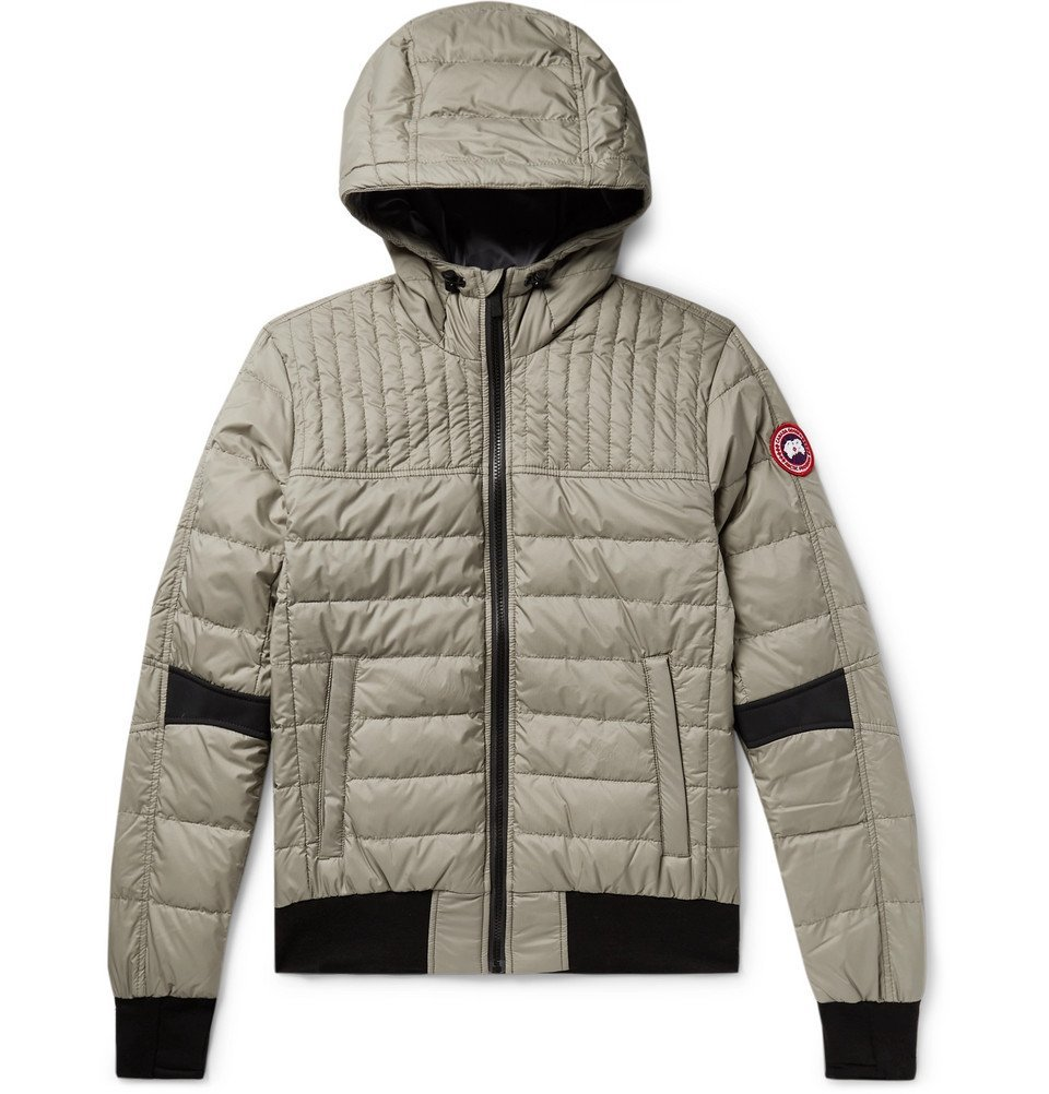 Photo: Canada Goose - Cabri Quilted Nylon-Ripstop Hooded Down Jacket - Gray green