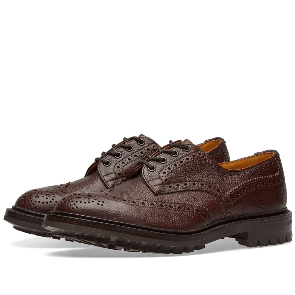 Photo: Tricker's Commando Sole Ilkley Derby Brogue Burgundy