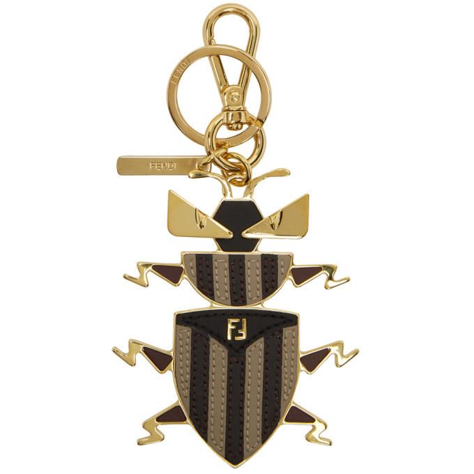 Photo: Fendi Multicolor Super Bugs Charm Keychain
