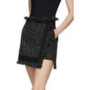 Sacai Black Wool Summer Tweed Skort