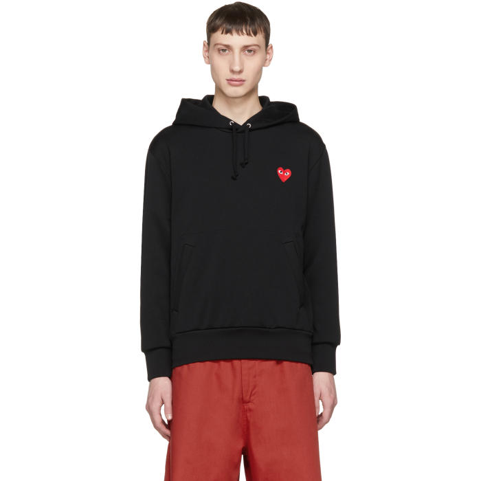 Photo: Comme des Garçons Play Black Heart Patch Hoodie