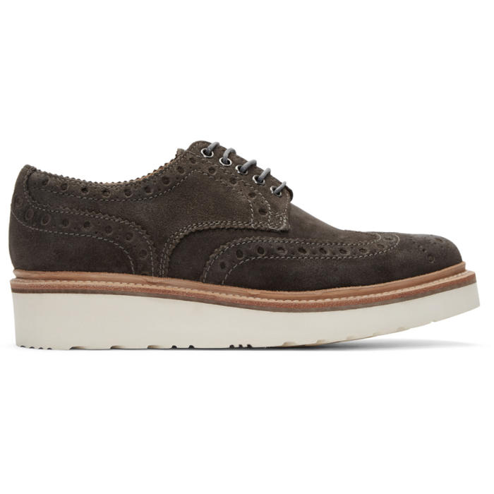 Photo: Grenson Grey Suede Archie Brogues