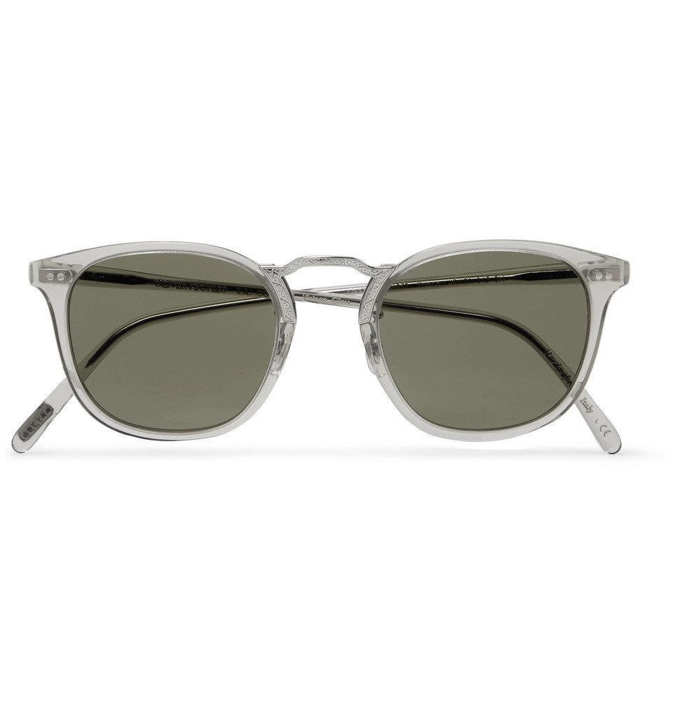 Oliver Peoples - Roone D-Frame Acetate and Silver-Tone Sunglasses - Silver