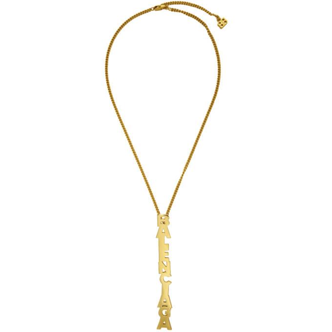 Photo: Balenciaga Gold Typo Necklace