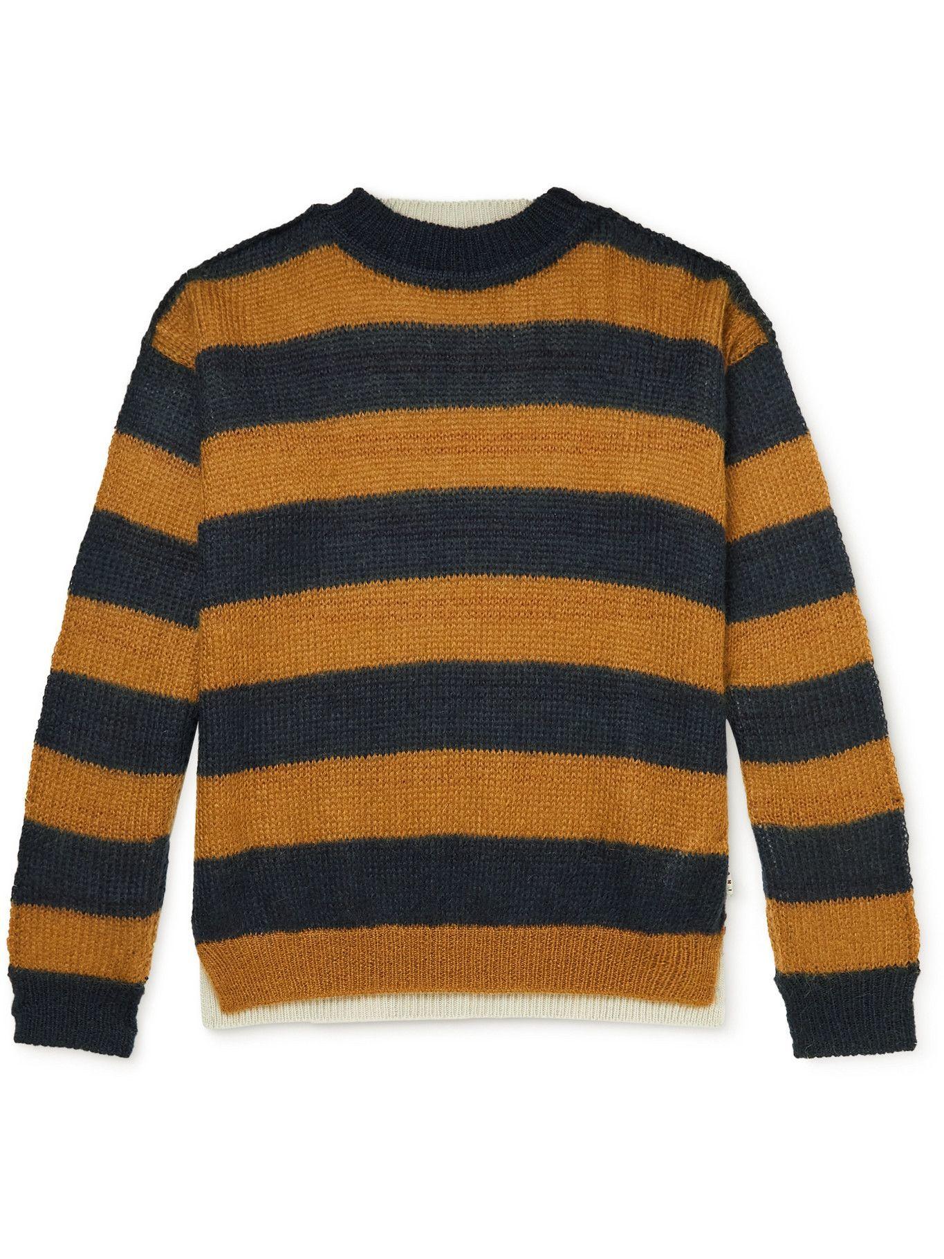Photo: Marni - Panelled Striped Virgin Wool-Blend Sweater - Multi