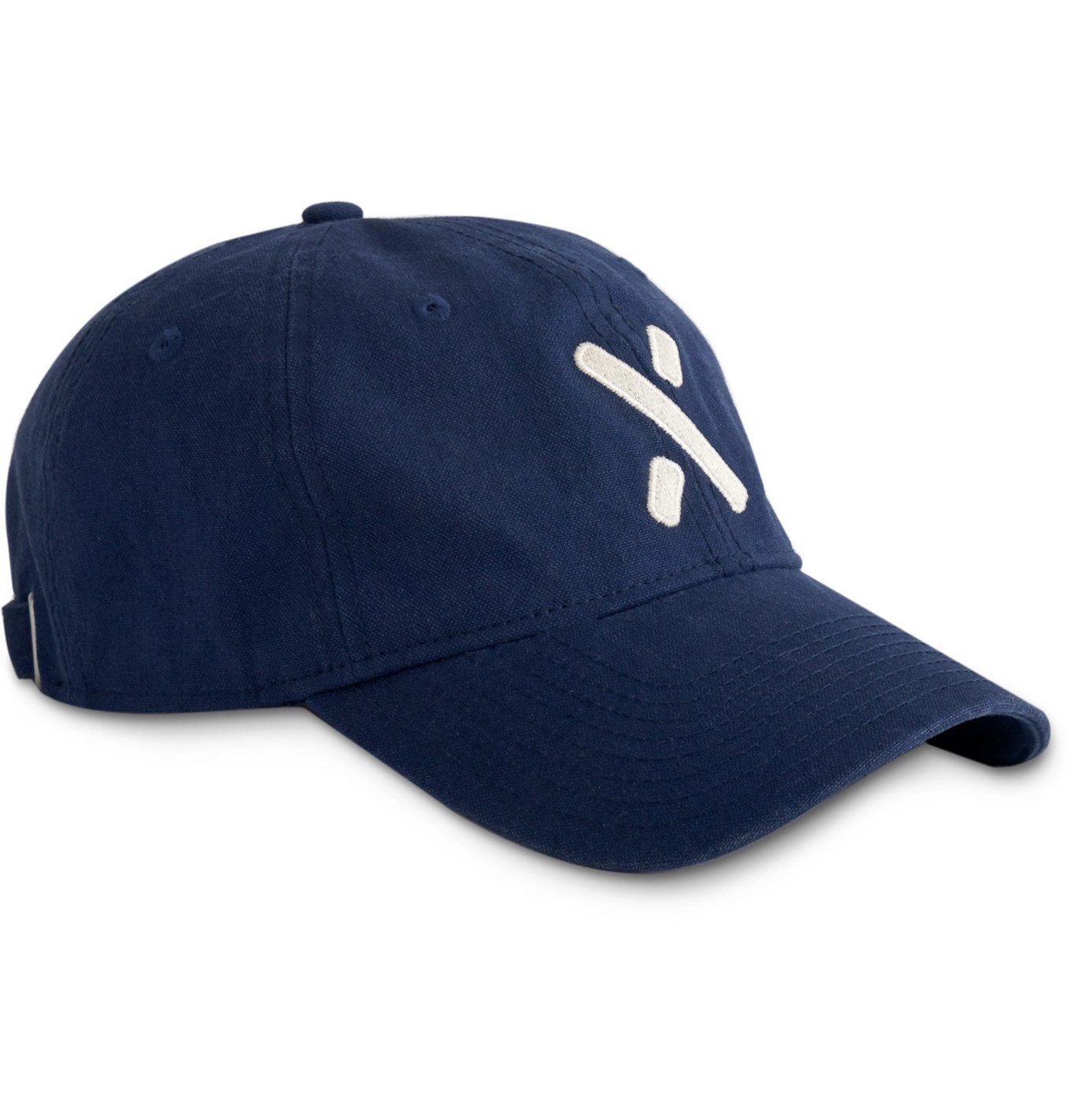 Photo: Alex Mill - Embroidered Garment-Dyed Cotton-Canvas Baseball Cap - Blue