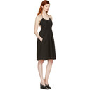 3.1 Phillip Lim Black Gathered Cotton Dress