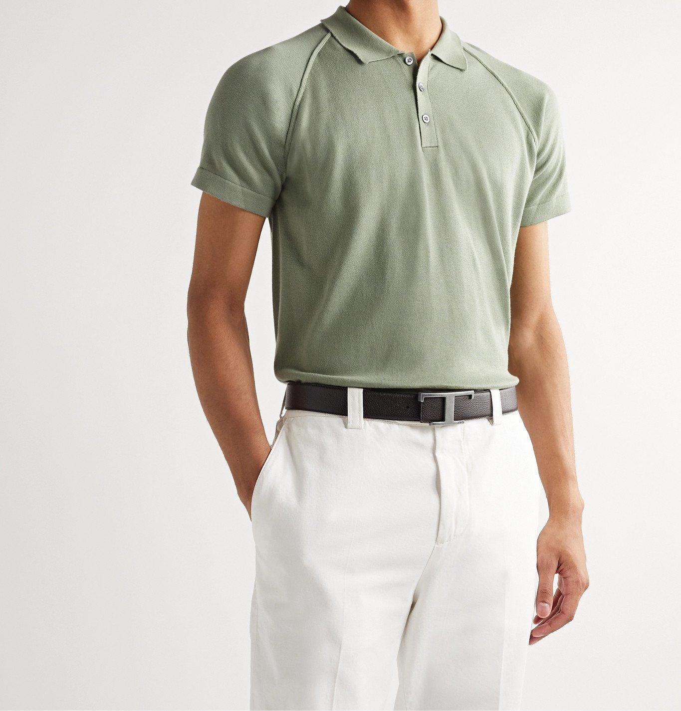 Tod's - 3.5cm Reversible Full-Grain Leather Belt - Brown