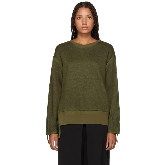 3.1 Phillip Lim Green Military Wool Sweater