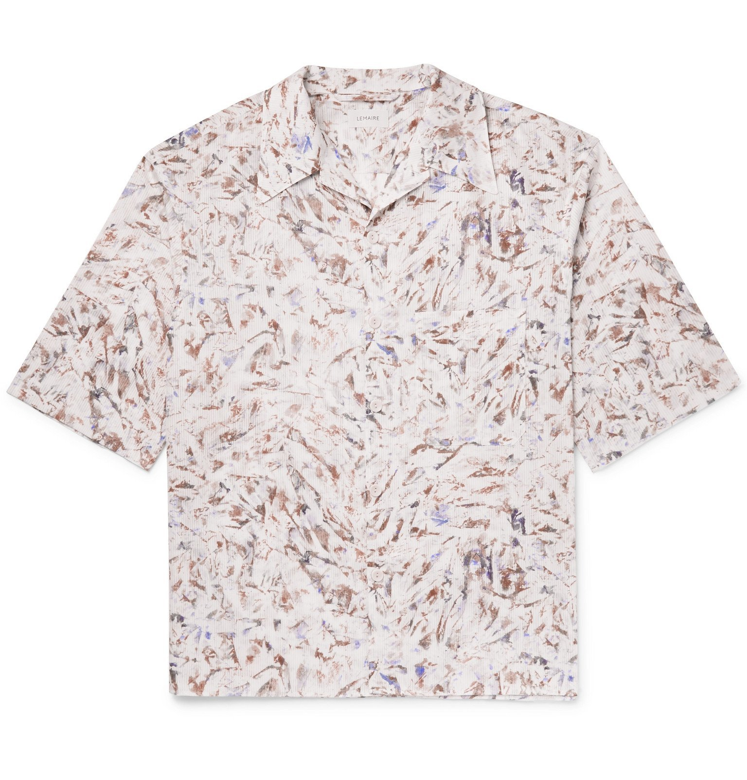 Photo: Lemaire - Camp-Collar Printed Cotton Shirt - Multi