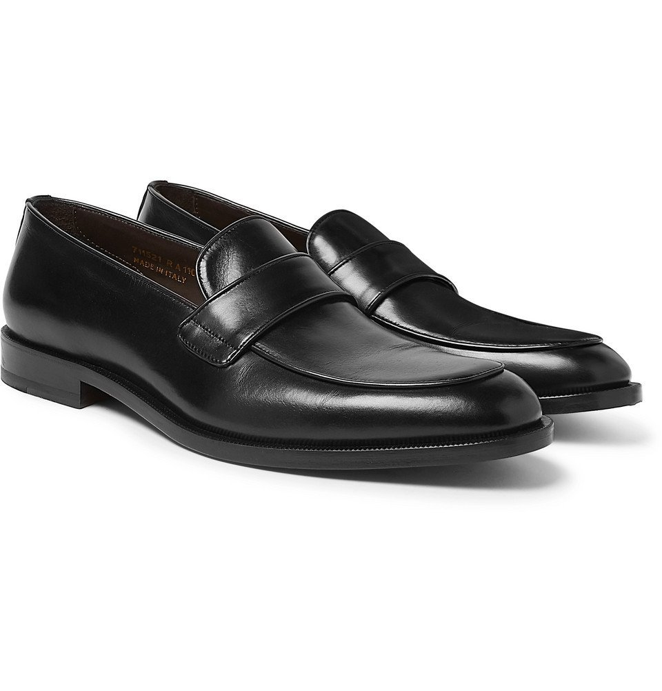 Photo: Canali - Leather Penny Loafers - Black
