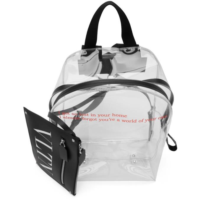 Valentino Transparent Valentino Garavani Pouch Backpack