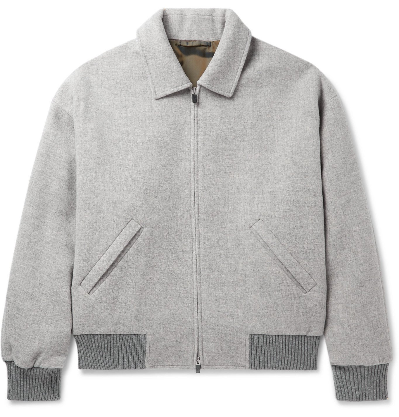 Photo: Fear of God for Ermenegildo Zegna - Logo-Appliquéd Wool Bomber Jacket - Gray