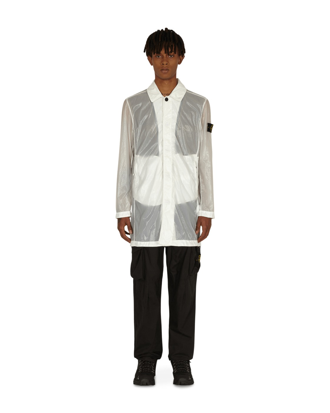 Photo: Stone Island Lucido Tc Packable Coat White