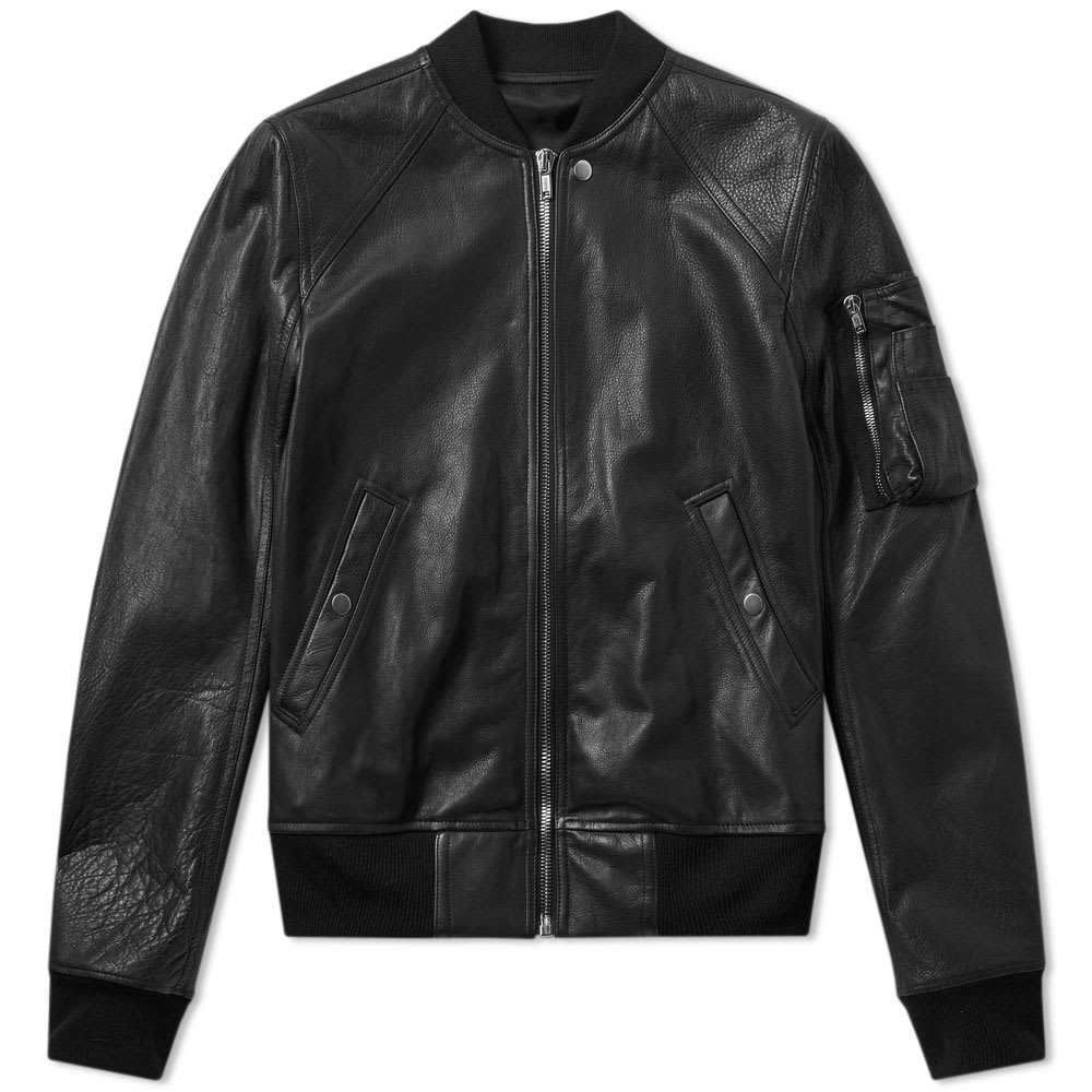 Photo: Rick Owens Calf Skin Raglan Leather Jacket