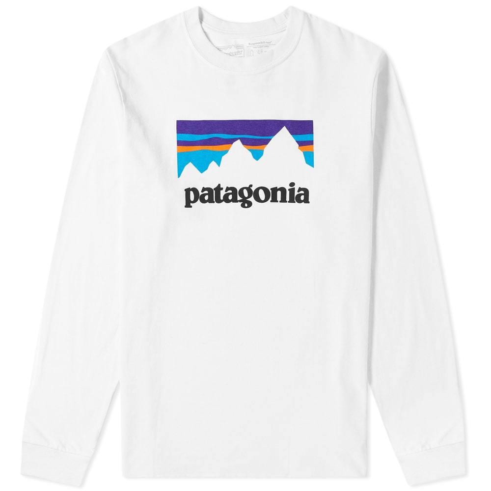 Photo: Patagonia Long Sleeve Shop Sticker Responsibili-Tee
