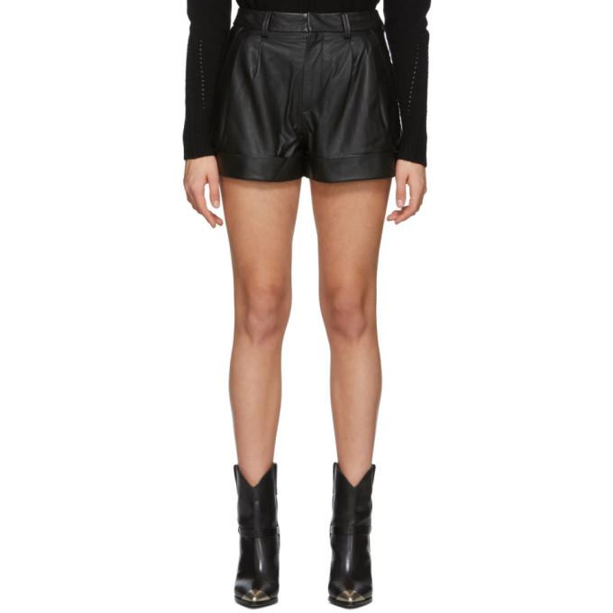 Photo: Isabel Marant Etoile Black Leather Abot Shorts