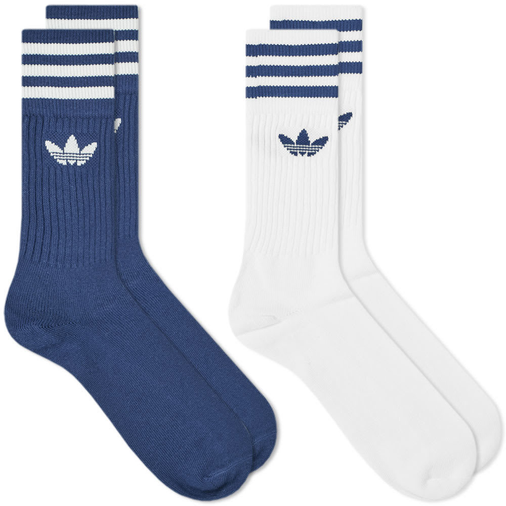 Photo: Adidas Solid Crew Sock - 2 Pack