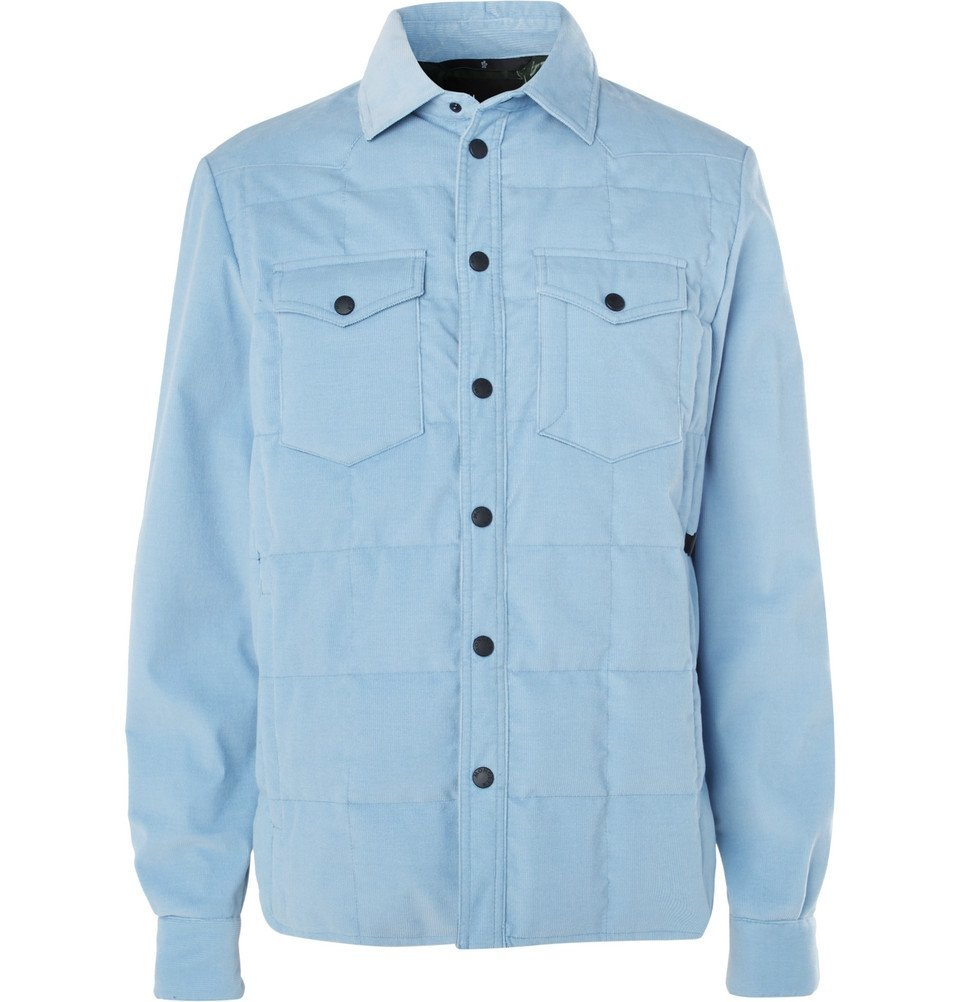 Photo: Moncler Grenoble - Stretch-Cotton Corduroy Down Jacket - Sky blue