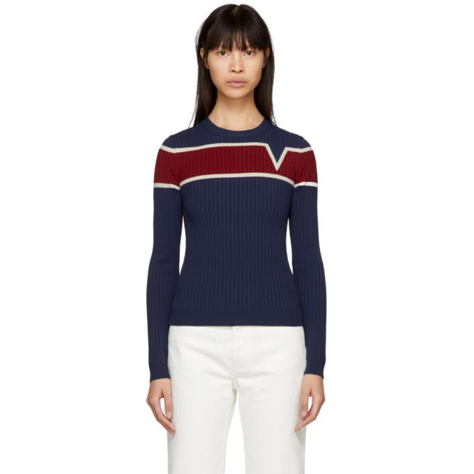 Photo: Valentino Navy V Life Line Sweater