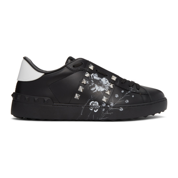 Photo: Valentino Black Valentino Garavani Inez and Vinoodh Edition Flower Rockstud Untitled Sneakers