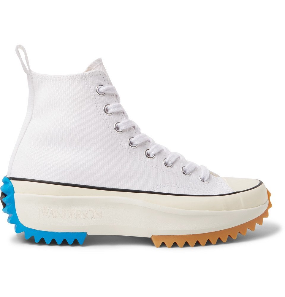 Photo: Converse - JW Anderson Run Star Hike Canvas High-Top Sneakers - White