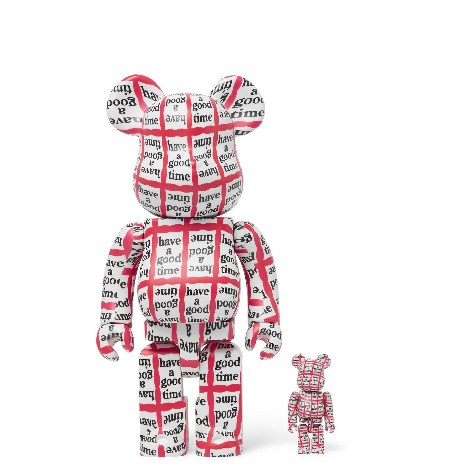 Photo: BE@RBRICK - 100% 400% Have A Good Time Figurines Set - Multi