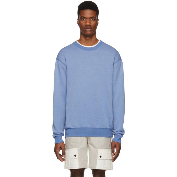 Photo: John Elliott Blue Vintage Crewneck Sweatshirt