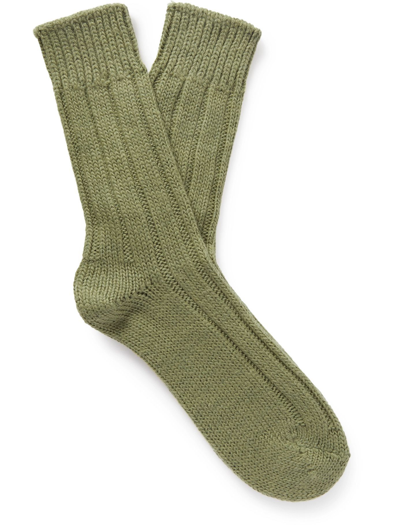 Photo: Thunders Love - Ribbed Shetland Wool Socks