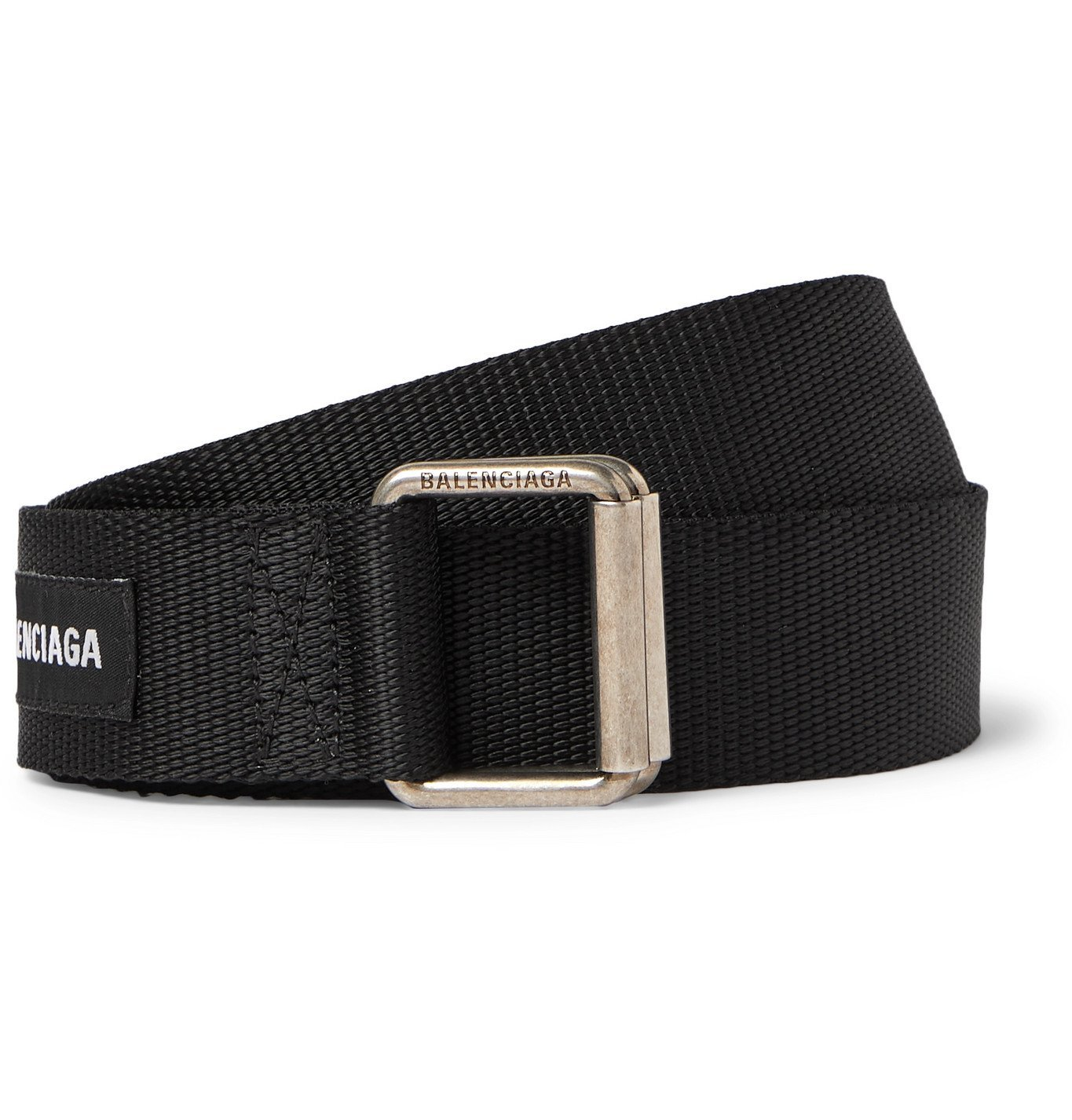 Photo: BALENCIAGA - 3cm Logo-Appliquéd Webbing Belt - Black
