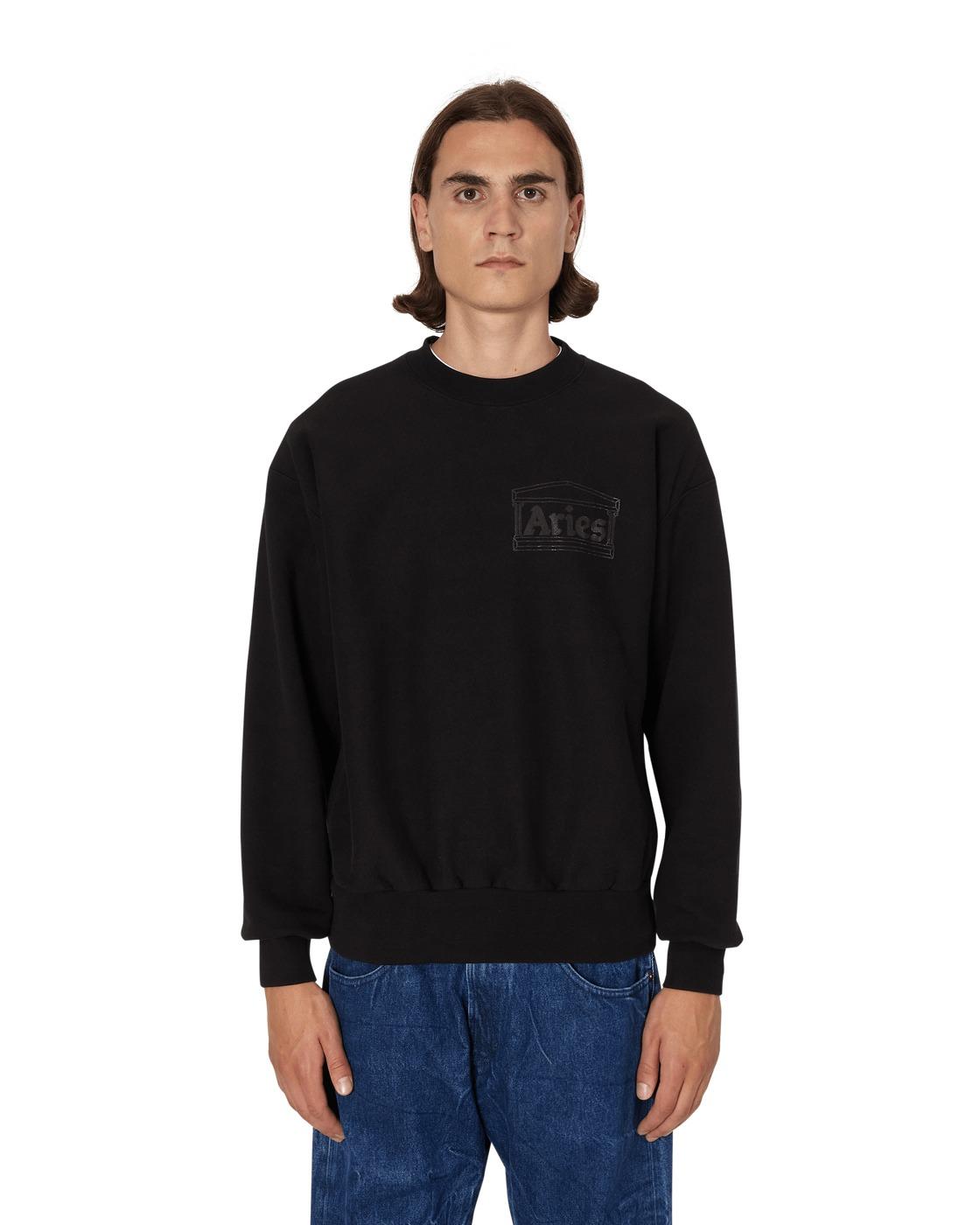 Aries Premium Temple Crewneck Sweatshirt Black