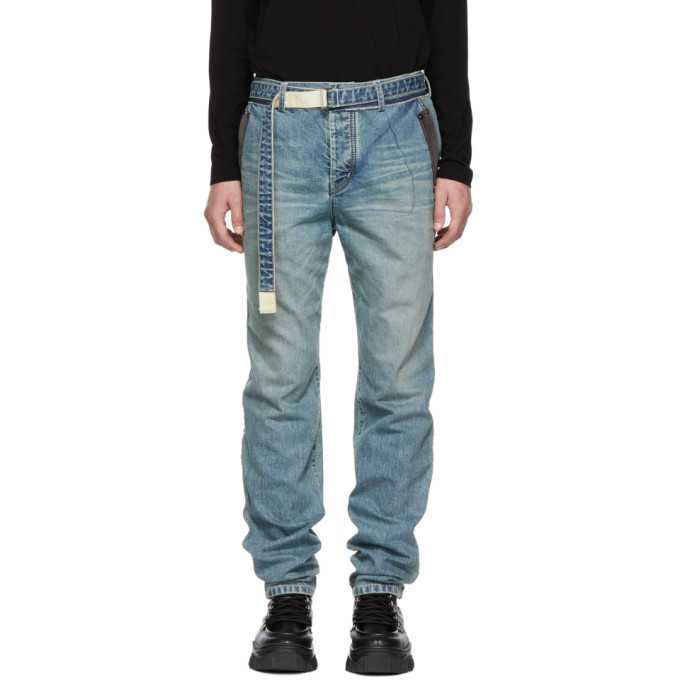 Photo: Sacai Blue Belt Jeans