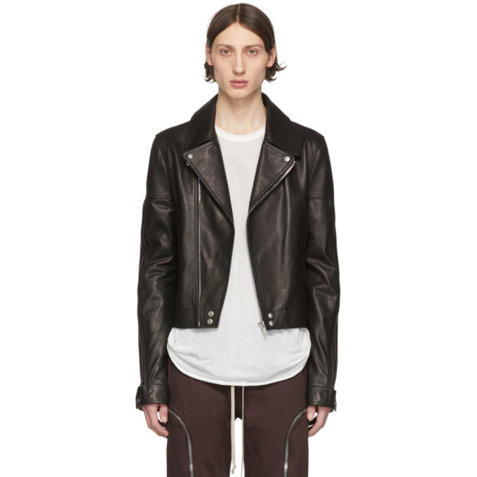 Photo: Rick Owens Black Leather Dracubiker Jacket