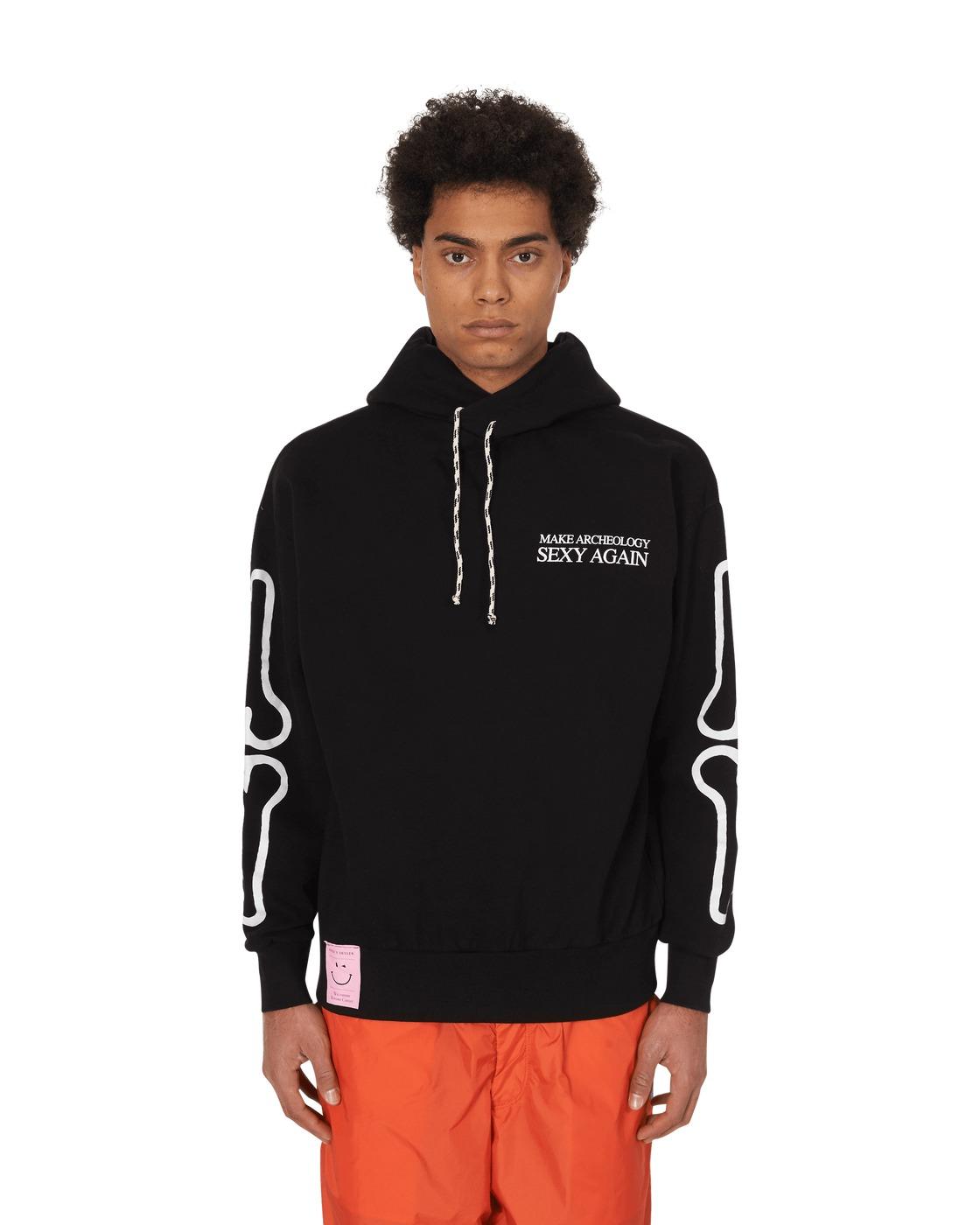 Aries The Incredible Cag Hooded Sweatshirt Black