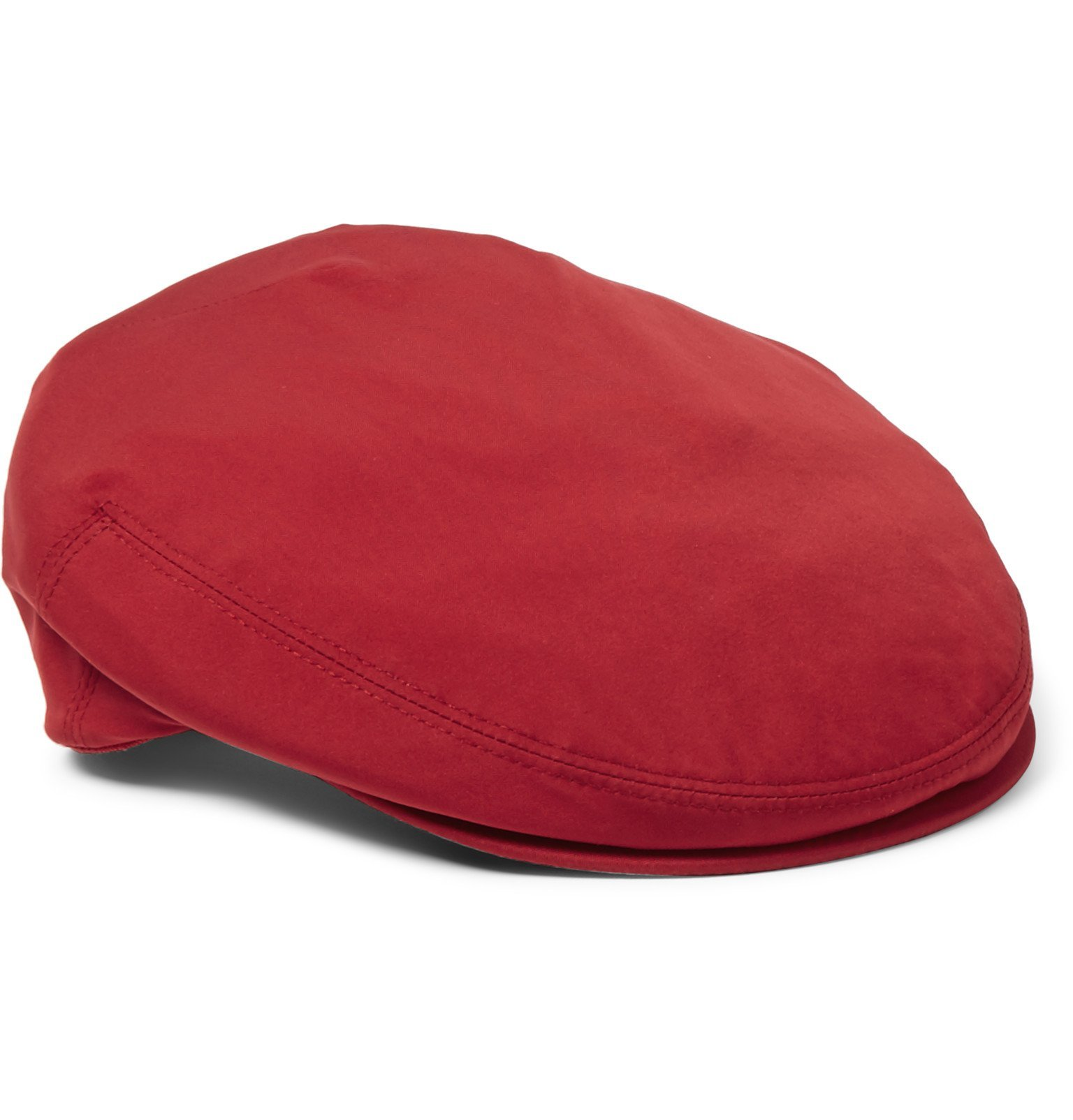 Photo: Loro Piana - Roadster Shell Flat Cap - Red
