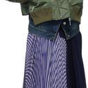 Sacai Khaki & Blue Denim Trim Bomber Jacket