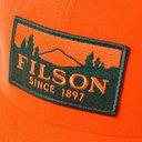 Filson - Logger Logo-Appliquéd Canvas and Mesh Trucker Cap - Orange