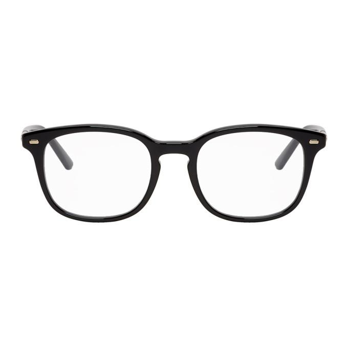Photo: Gucci Black Round Stripe Glasses